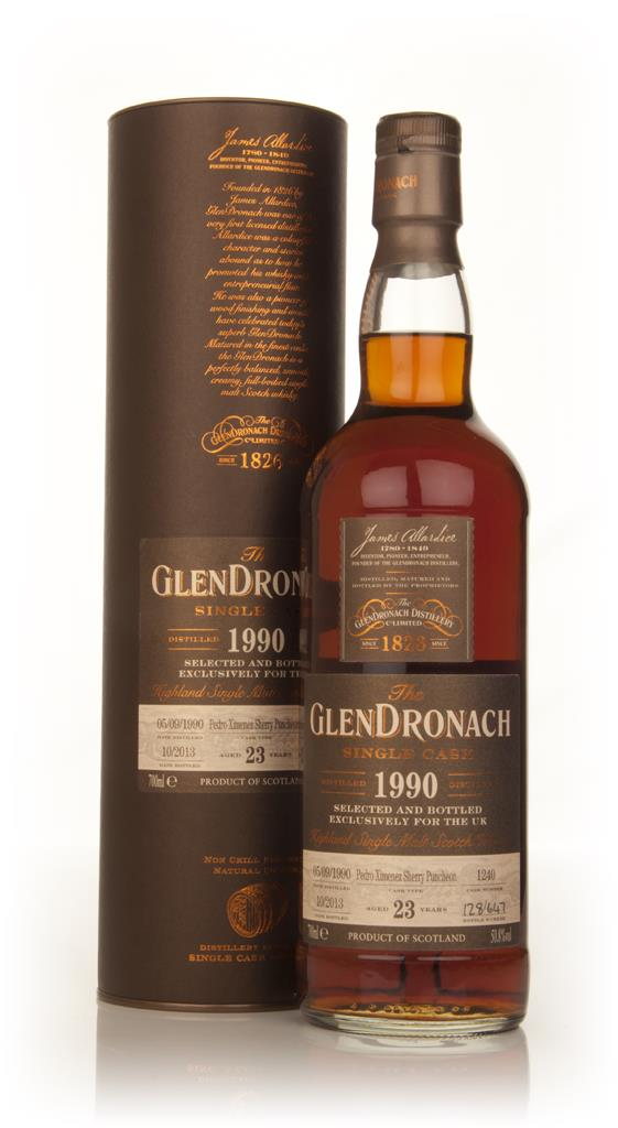 GlenDronach 23 Year Old 1990 (cask 1240) Single Malt Whisky