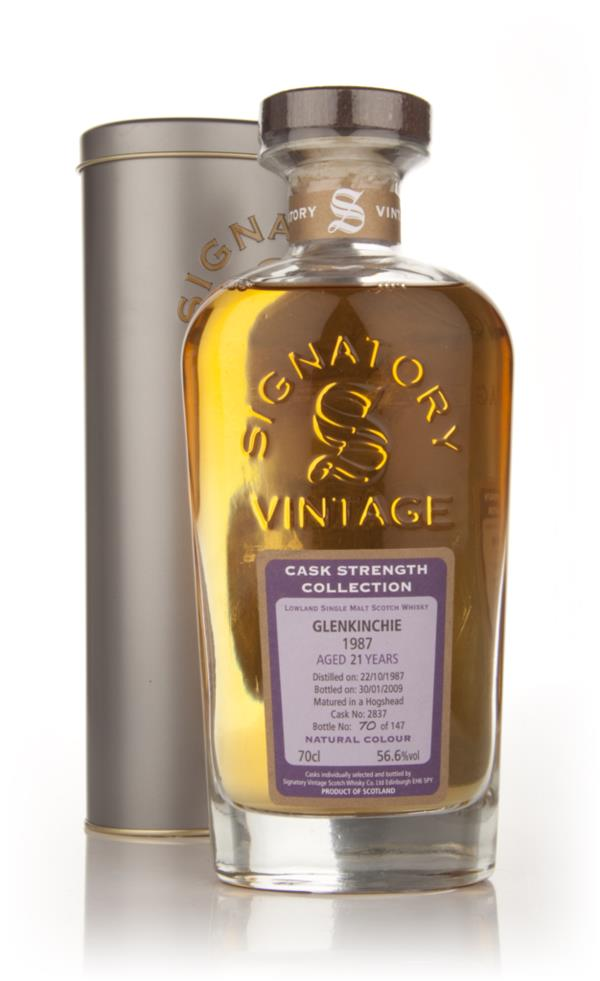 Glenkinchie 21 Year Old 1987 - Cask Strength Collection (Signatory) Single Malt Whisky