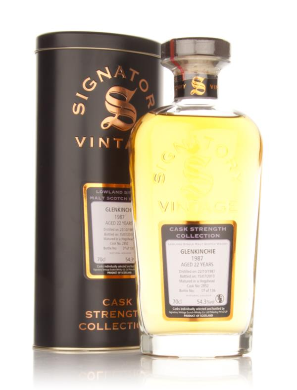 Glenkinchie 22 Year Old 1987 - Cask Strength Collection (Signatory) Single Malt Whisky