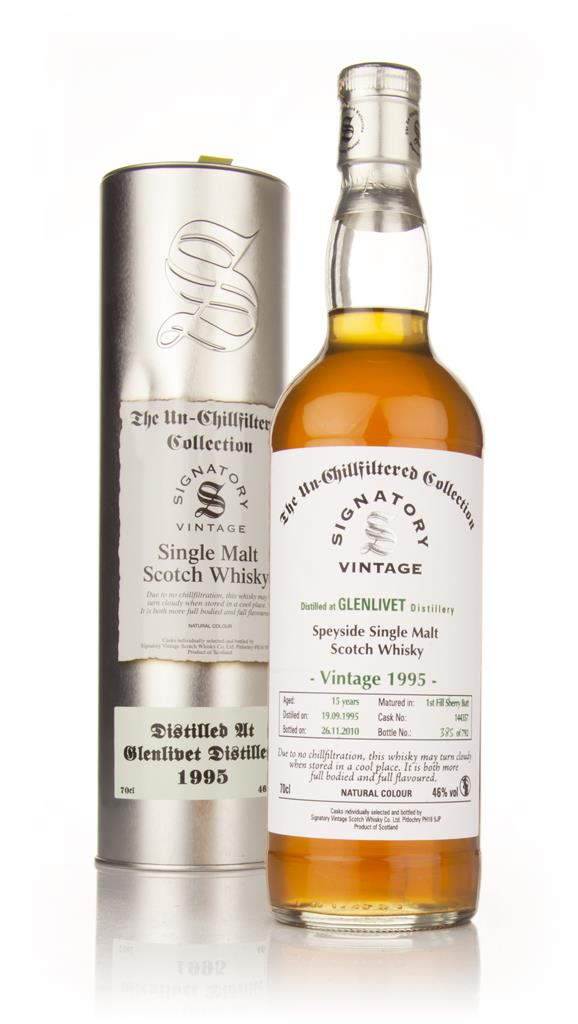 Glenlivet 15 Year Old 1995 - Un-Chillfiltered (Signatory) Single Malt Whisky