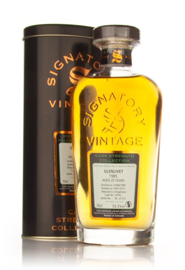 Glenlivet 25 Year Old 1985 - Cask Strength Collection (Signatory) Single Malt Whisky