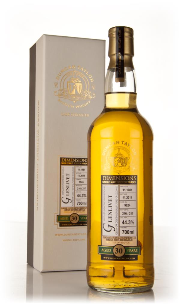 Glenlivet 30 Year Old 1981 - Dimensions (Duncan Taylor) Single Malt Whisky