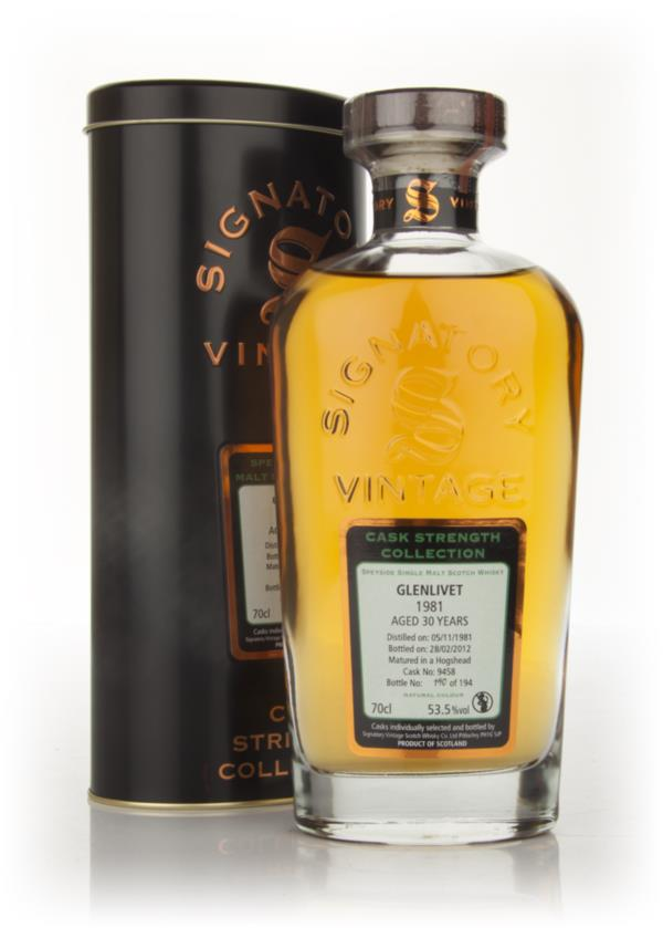 Glenlivet 30 Year Old 1981 (Cask 9640) - Cask Strength Collection (Sig Single Malt Whisky