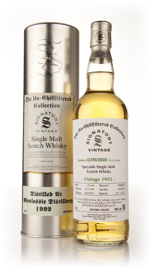 Glenlossie 18 Year Old 1992 - Un-Chillfiltered (Signatory) Single Malt Whisky