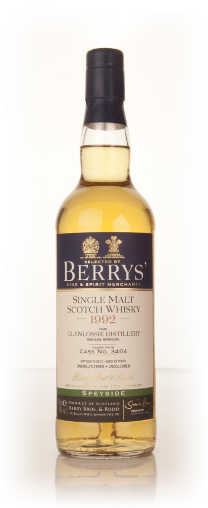 Glenlossie 20 Year Old 1992 (cask 3464) (Berry Bros. & Rudd) Single Malt Whisky