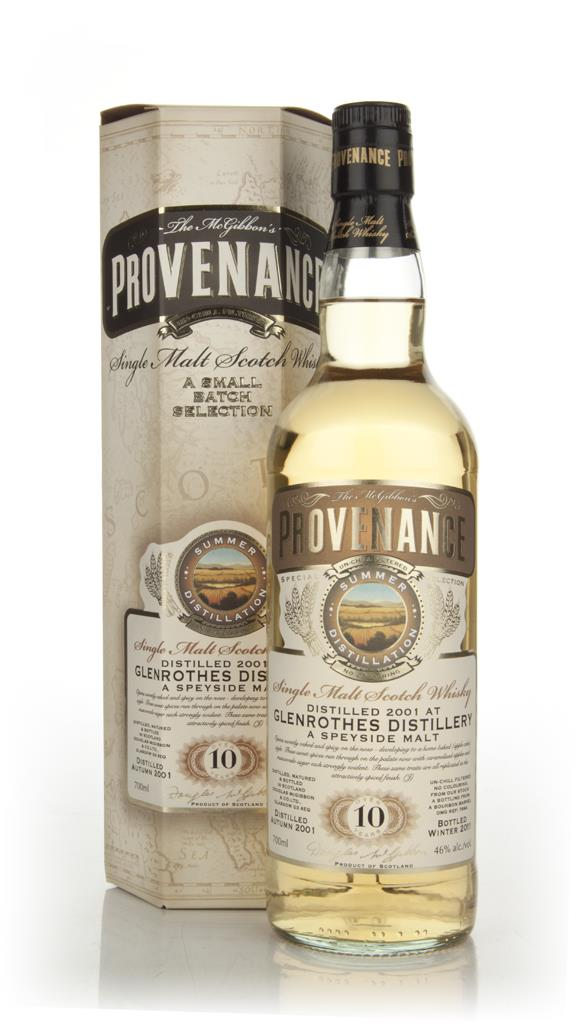Glenrothes 10 Years Old 2001 - Provenance (Douglas Laing) Single Malt Whisky