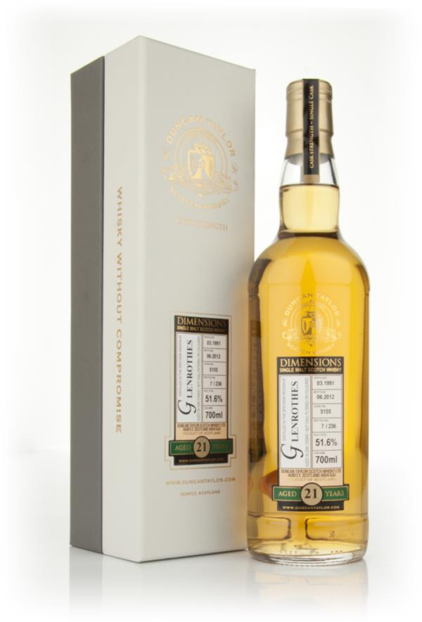 Glenrothes 21 Year Old 1991 - Dimensions (Duncan Taylor) Single Malt Whisky