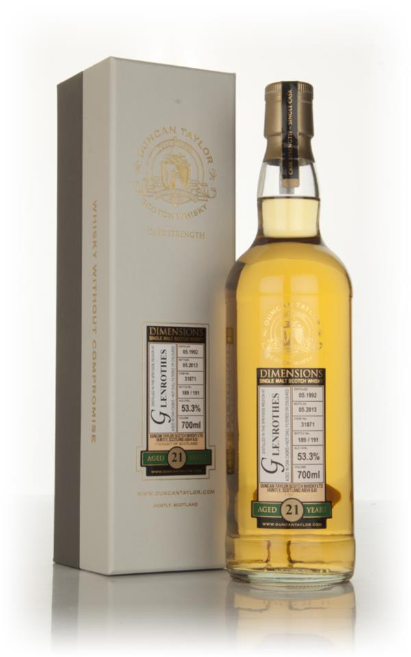 Glenrothes 21 Year Old 1992 (cask 31871) - Dimensions (Duncan Taylor) Single Malt Whisky