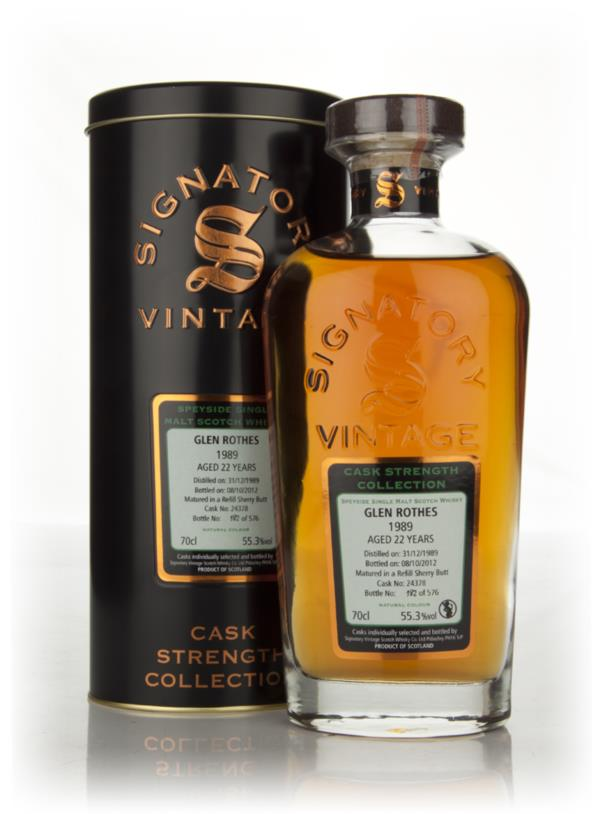 Glenrothes 22 Year Old 1989 Cask 24378 - Cask Strength Collection (Sig Single Malt Whisky