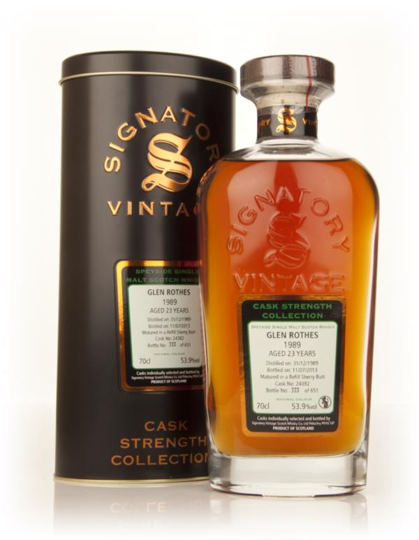 Glenrothes 23 Year Old 1989 (cask 24382) - Cask Strength Collection (S Single Malt Whisky