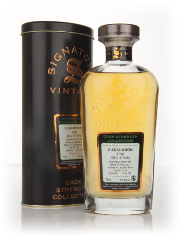 Glentauchers 16 Year Old 1996 - Cask Strength Collection (Signatory) Single Malt Whisky