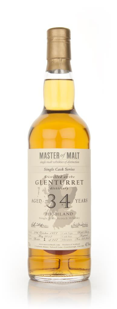 Glenturret 34 Year Old 1977 - Single Cask (Master of Malt) Single Malt Whisky