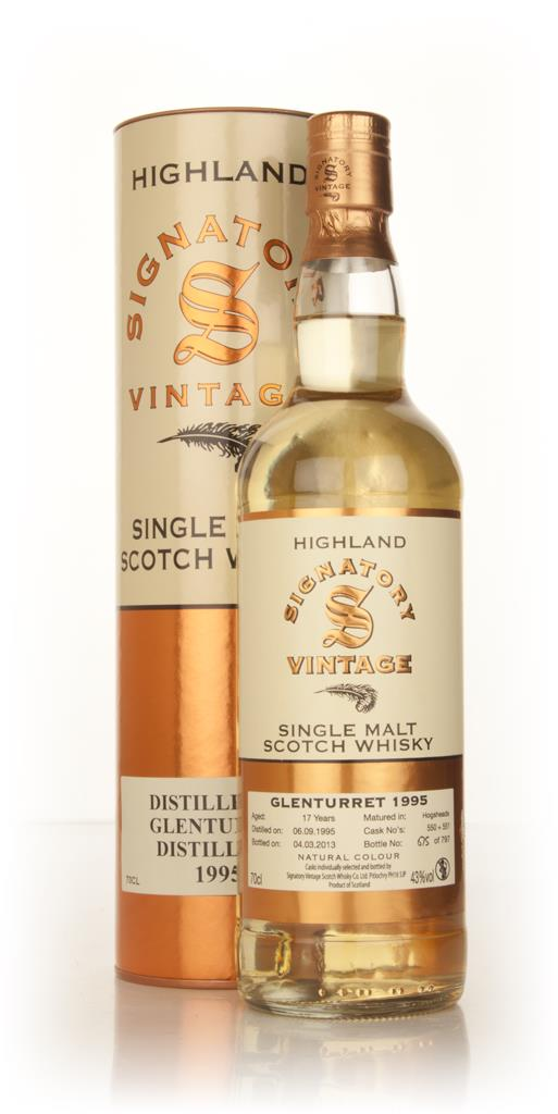 Glenturret 17 Year Old 1995 (casks 550+551) (Signatory) Single Malt Whisky