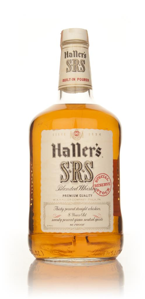 Hallers SRS Blended Whiskey - 1970s Blended Whiskey