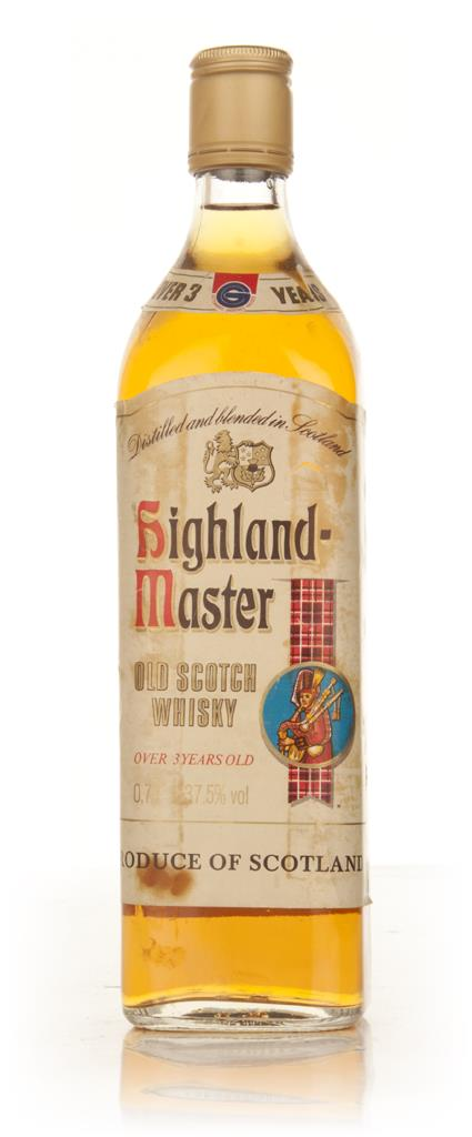 Highland Master Old Scotch Whisky - 1980s Blended Whisky