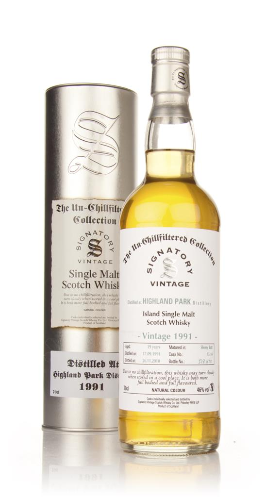 Highland Park 19 Year Old 1991 - Un-Chillfiltered (Signatory) Single Malt Whisky