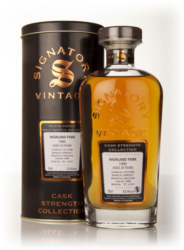 Highland Park 20 Year Old 1990 Cask 15699 - Cask Strength Collection ( Single Malt Whisky