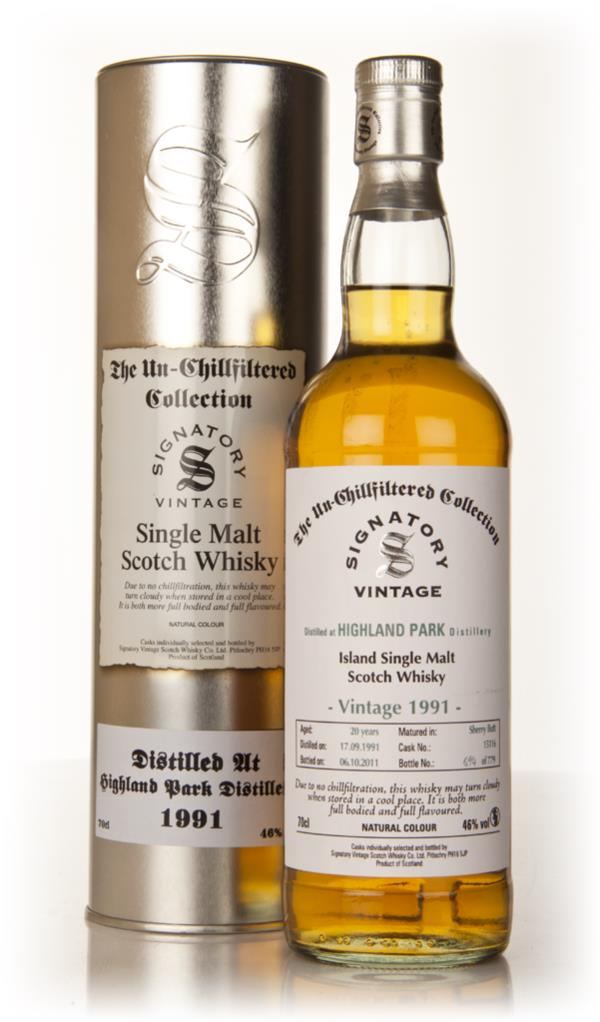Highland Park 20 Year Old 1991 Cask 15116 - Un-Chillfiltered (Signator Single Malt