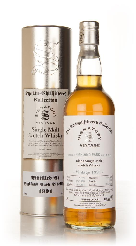 Highland Park 20 Year Old 1991 - Un-Chillfiltered (Signatory) Single Malt Whisky