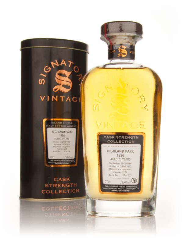 Highland Park 23 Year Old 1986 Cask 2274 - Cask Strength Collection (S Single Malt