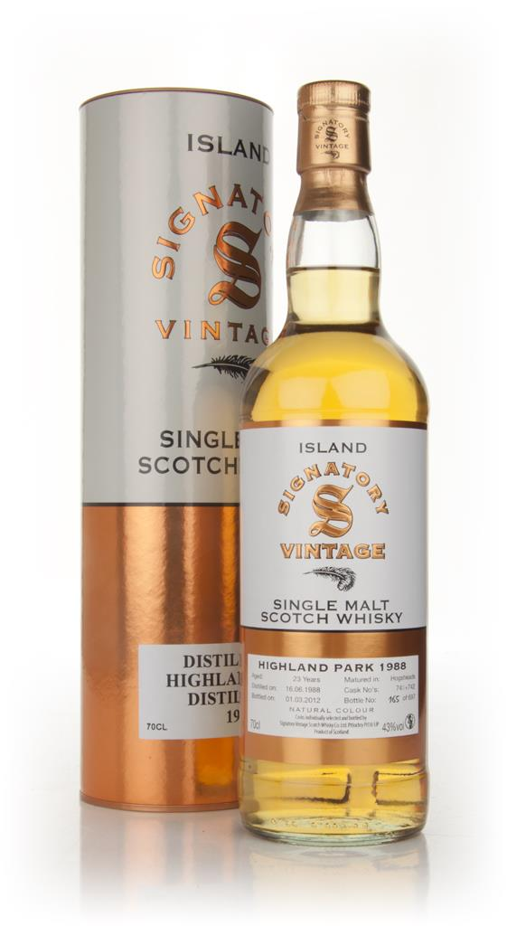 Highland Park 23 Year Old 1988 (Signatory) Single Malt Whisky