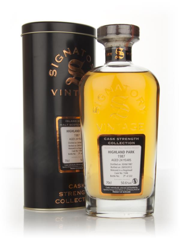 Highland Park 24 Year Old 1987 - Cask Strength Collection (Signatory) Single Malt Whisky
