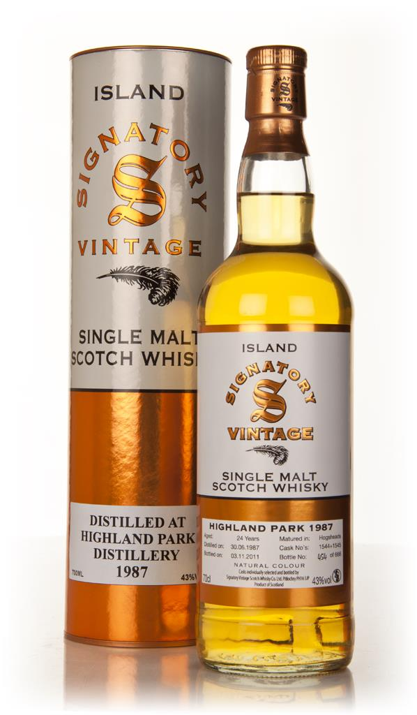 Highland Park 24 Year Old 1987 (Signatory) Single Malt Whisky