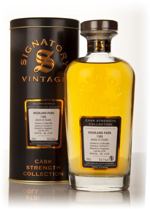 Highland Park 25 Year Old 1986 Cask 2279 - Cask Strength Collection (S Single Malt Whisky