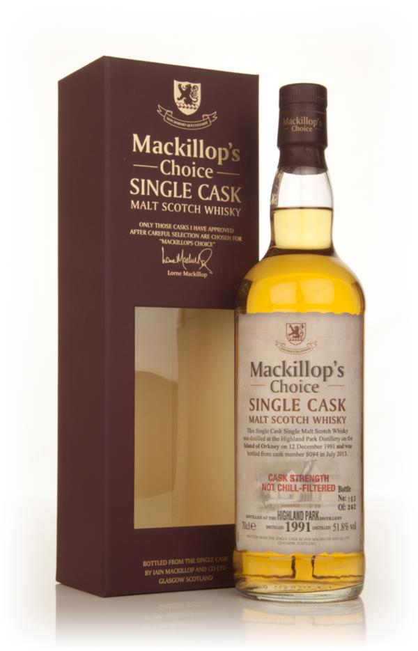 Highland Park 21 Year Old 1991 (cask 8094) - Mackillop's Choice Single Malt Whisky