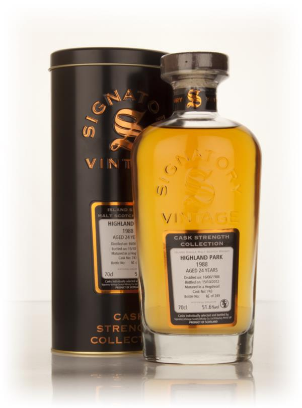 Highland Park 24 Year Old 1988 (cask 743) - Cask Strength Collection ( Single Malt Whisky