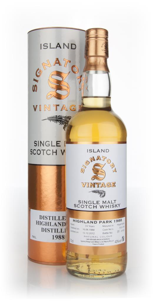 Highland Park 24 Year Old 1988 (Signatory) Single Malt Whisky