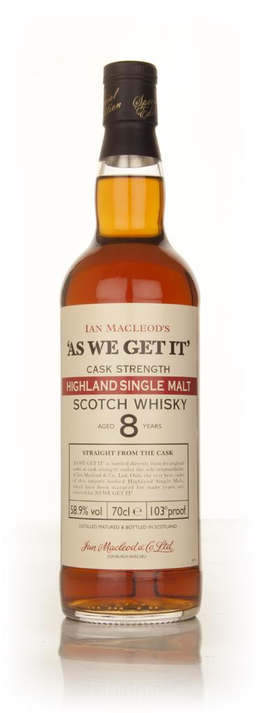 Highland 8 Year Old - As We Get It (Ian Macleod) Single Malt Whisky