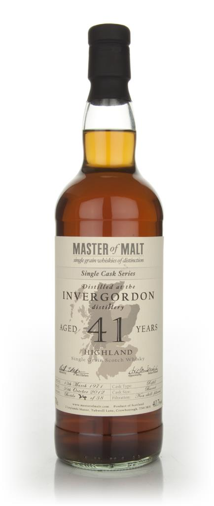 Invergordon 41 Year Old - Single Cask (Master of Malt) Single Malt Whisky