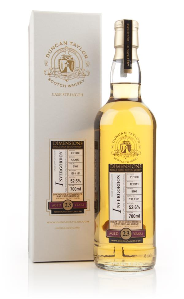 Invergordon 23 Year Old 1990 (cask 5160) - Dimensions (Duncan Taylor) Grain Whisky