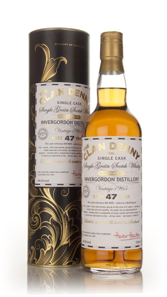 Invergordon 47 Year Old 1965 (cask 9459)- The Clan Denny (Douglas Lain Grain Whisky