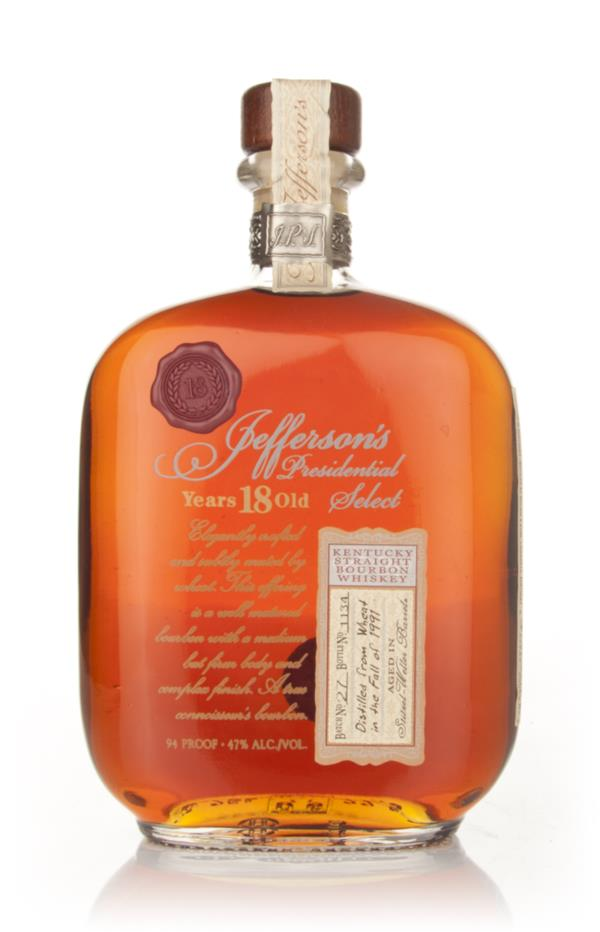 Jeffersons 18 Year Old Presidential Select Bourbon Whiskey