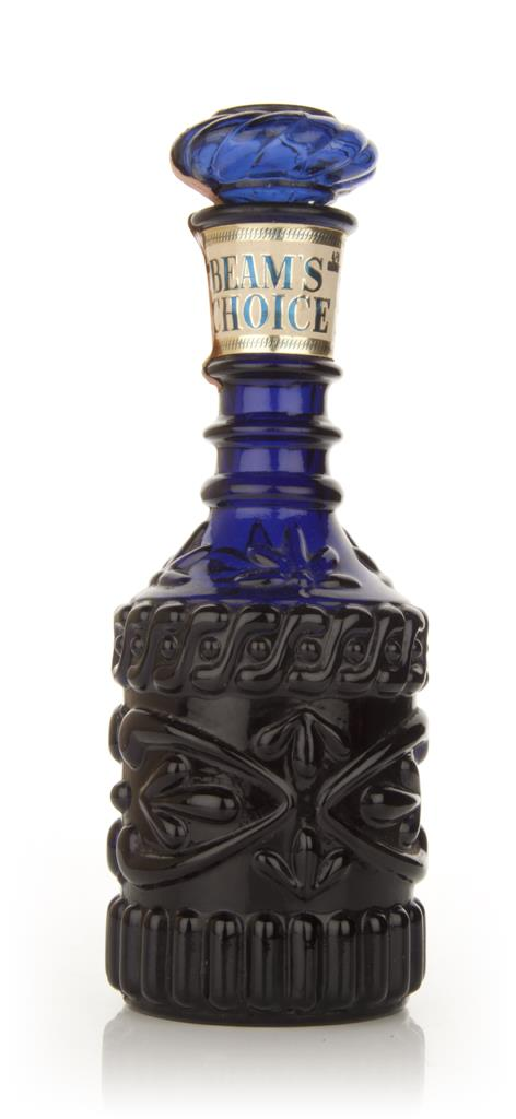 Jim Beam Blue Decanter - 1960s Bourbon Whiskey