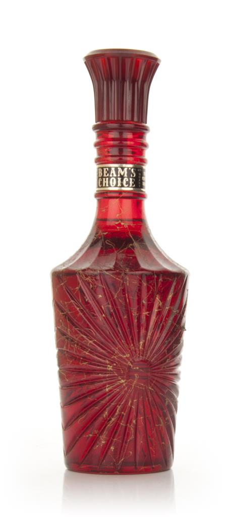Jim Beam 8 Red Decanter - 1960s Bourbon Whiskey