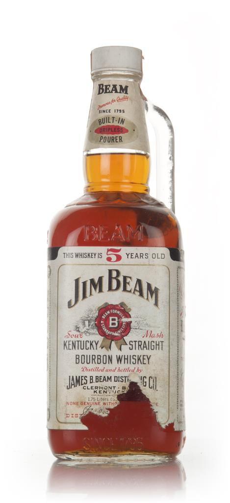 Jim Beam White 5 Year Old - 1970s Whisky Whiskey