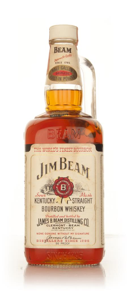 Jim Beam White Label 43% 1.9l  - late 1960s Bourbon Whiskey