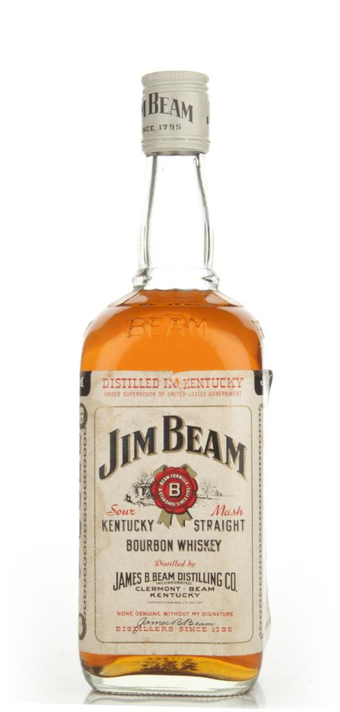 Jim Beam Straight Kentucky Bourbon - 1970s Bourbon Whiskey