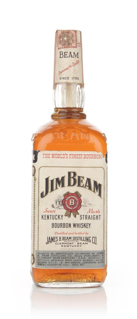 Jim Beam White Label - 1966 Bourbon Whiskey