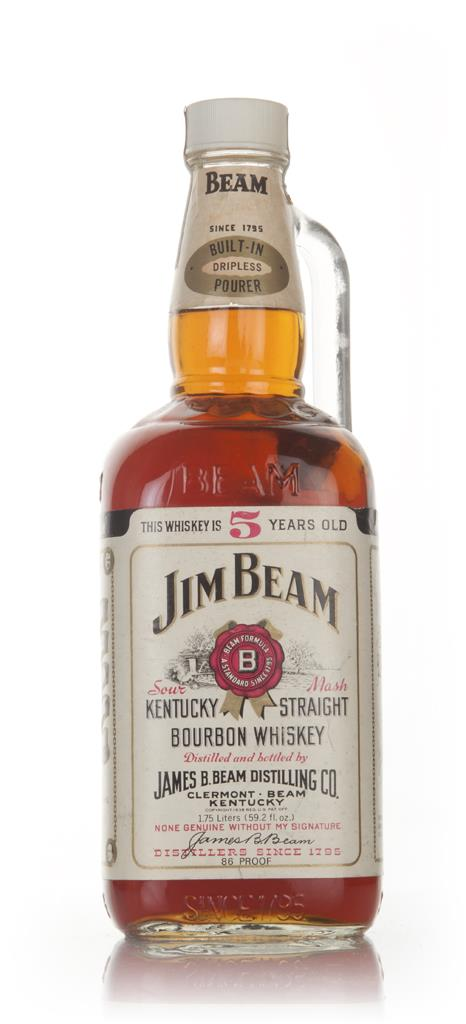 Jim Beam White Label 5 Year Old 175cl - 1970s Blended Whiskey