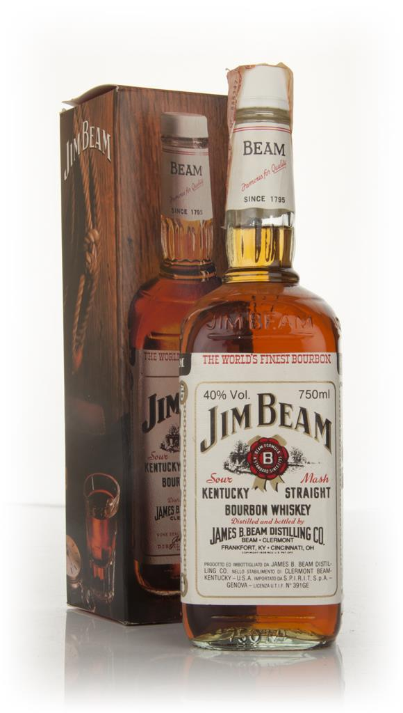 Jim Beam White 4 Year Old - 1980s Bourbon Whiskey