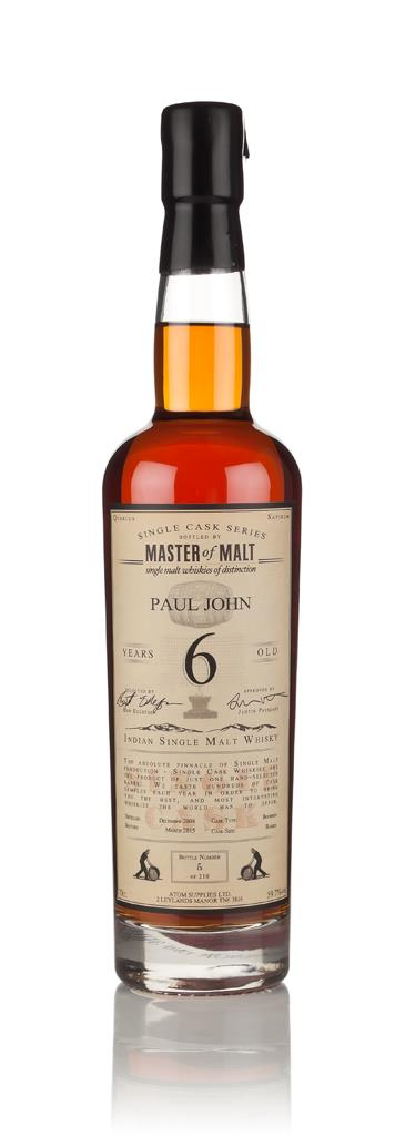 Paul John 6 Year Old 2008 - Single Cask (Master of Malt) 3cl Sample Single Malt Whisky