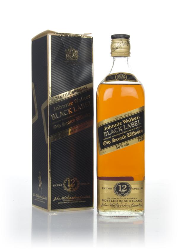Johnnie Walker Black Label 12 Year Old - 1970s Blended Whisky