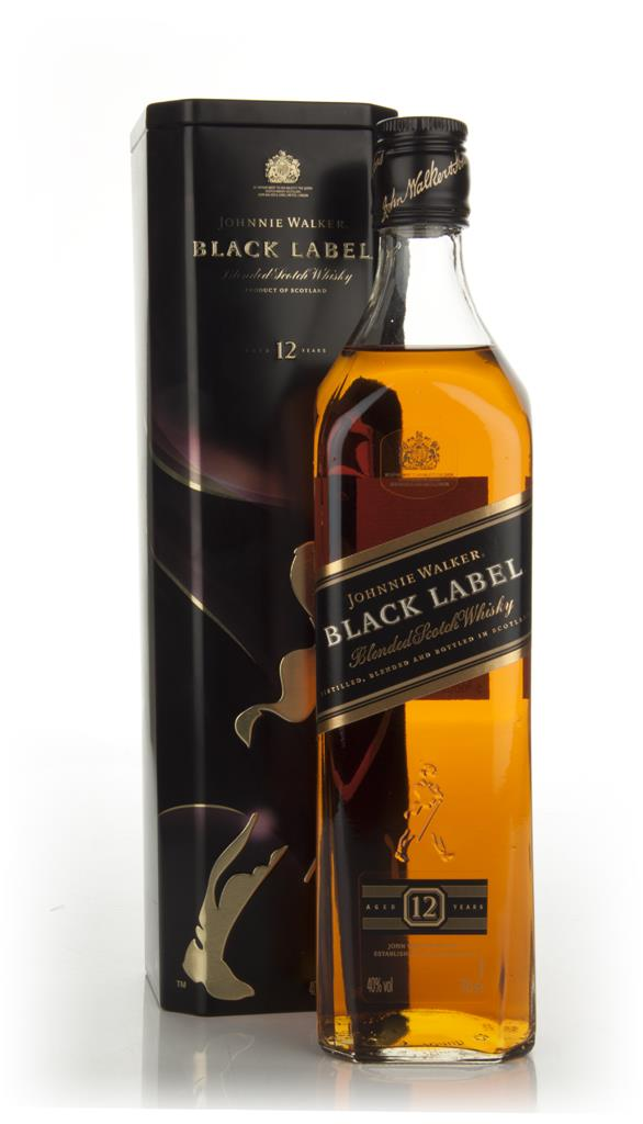 Johnnie Walker Black Label 12 Year Old in tin Blended Whisky