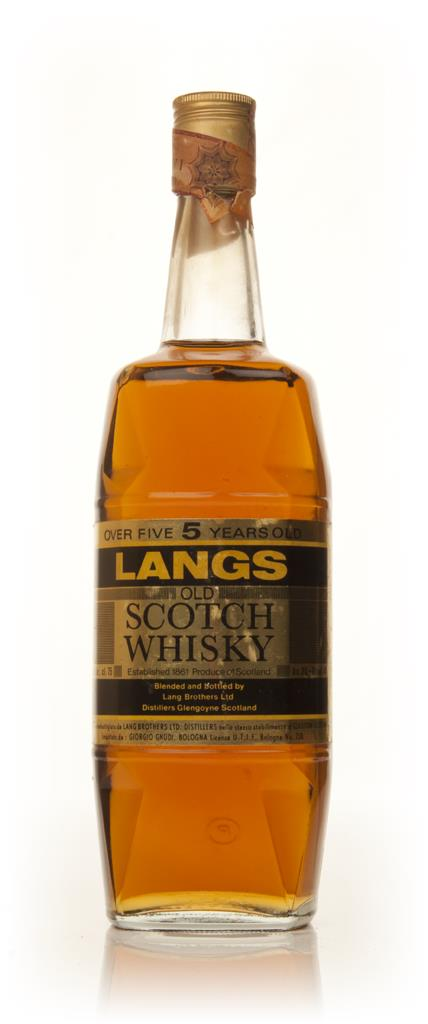 Langs 5 Year Old - 1970s Blended Whisky