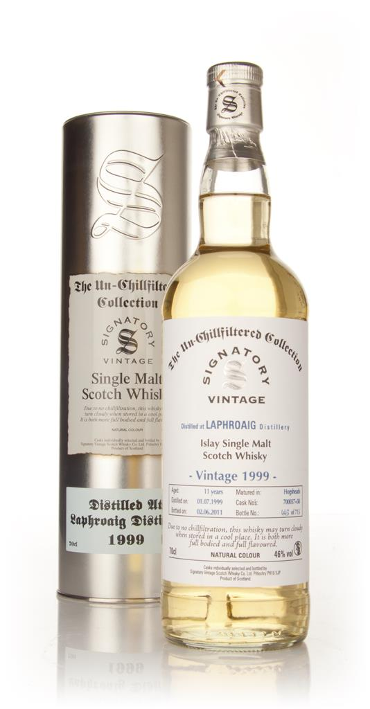 Laphroaig 11 Year Old 1999 - Un-Chillfiltered (Signatory) Single Malt Whisky