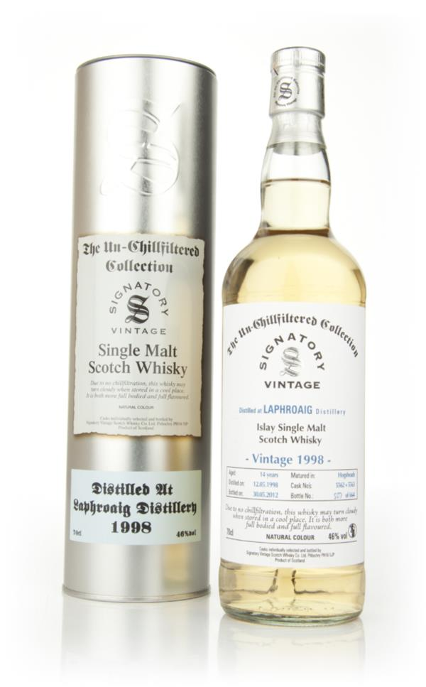 Laphroaig 14 Year Old 1998 - Un-Chillfiltered (Signatory) Single Malt Whisky